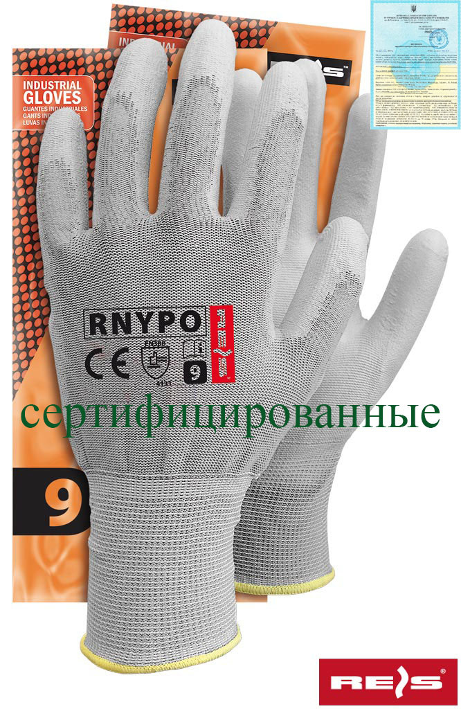 Защитные перчатки из нейлона с полиуретановым покрытием RNYPO SS
