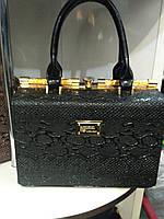 Женская лаковая сумка Joanna 1 цвет Черный