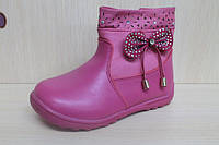 Полусапожки на девочку, детская демисезонная обувь, высокие теплые сапожки, акция р.21