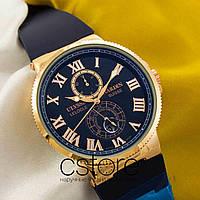 Мужские наручные часы Ulysse Nardin maxi marine gold blue (05305), фото 1