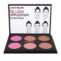 Палитра румян и бронзеров для контурирования City Color Glow Pro Blush Palette Matte Collection, фото 2