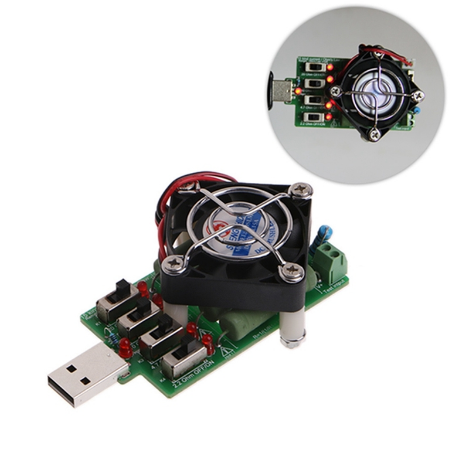 Нагрузочный резистор  с кулером USB 4А