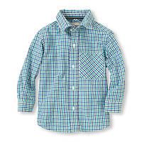 Детская рубашка в клеточку мелкую