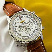 Мужские наручные Breitling chronometre navitimer silver white (05311)