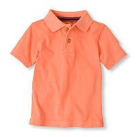 Детское поло неон оранж