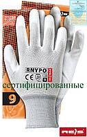 Рабочие перчатки REIS из нейлона с полиуретановым покрытие RNYPO WW