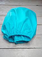 Сатиновая простынь на резинке в детскую кроватку на матрас 60*120 см бирюзовая