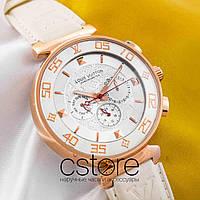 Женские наручные часы Louis Vuitton tambour monogram gold white (05339), фото 1