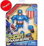 Разборная фигурка супергероя Капитан Америка - Captain America, Marvel, Mashers, Hasbro
