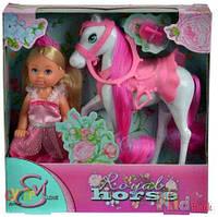 Кукольный набор «Принцесса Еви и королевский конь» Simba 4006592528331