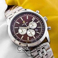Мужские наручные часы Breitling gold black (05346), фото 1