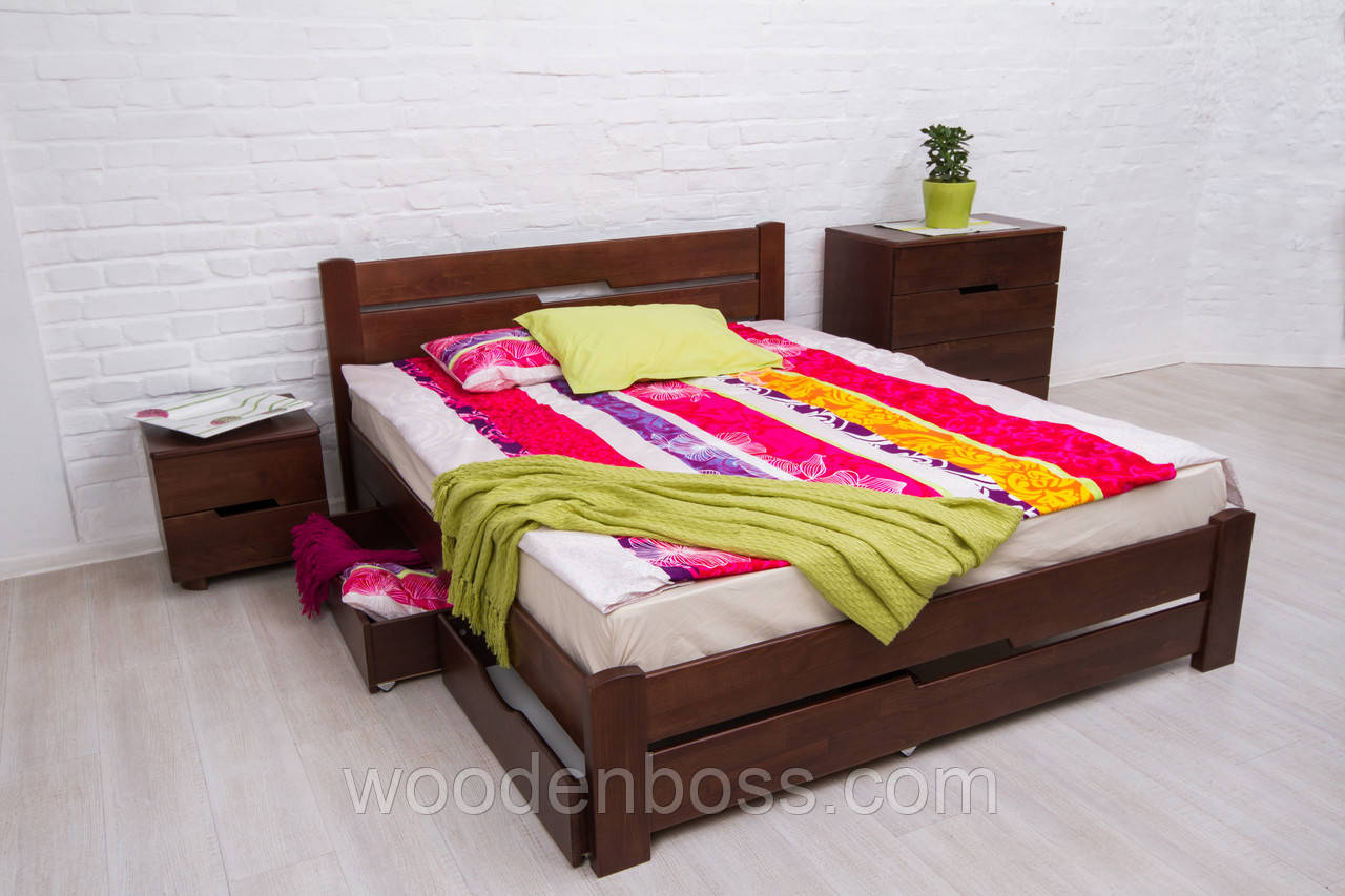 Кровать полуторная Айрис с ящиками 120х190/200