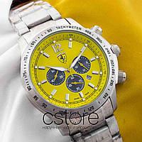 Мужские наручные часы Ferrari silver yellow (05347)