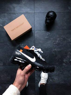 Мужские кроссовки Nike Air VaporMax FK черные топ реплика, фото 2
