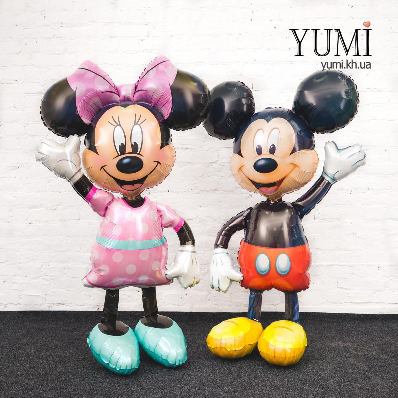 Ходячие шары фигуры Микки и Минни Маус