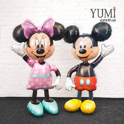 Ходячие шары фигуры Микки и Минни Маус, фото 2