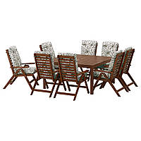 Cтол садовый + 8 стульев IKEA ÄPPLARÖ