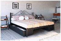 Двоспальне ліжко Адель Метал Дизайн