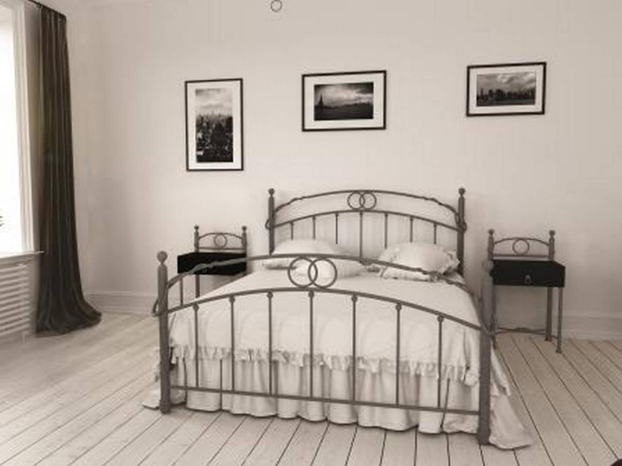 Ліжко коване в спальню Тоскана  Метал-Дизайн