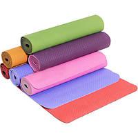 Коврик для фитнеса и йоги ТРЕ Eco 0614 (гимнастический коврик): размер 182х60см