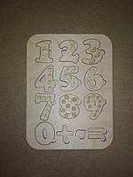 Пазл деревянные цифры сортер для детей с именем