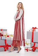 Комплект платье женское с туникой