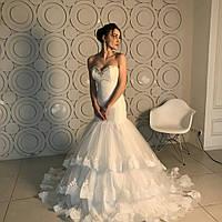 Свадебное платье маленького размера (42р). ТГ-5