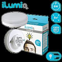 Светодиодная лампа Ilumia 5,5Вт, цоколь GX53, 4000К (нейтральный белый), 480Лм (054)