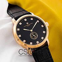 Женские наручные часы Vacheron Constantin gold black (05603)