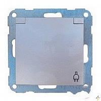 Розетка з заземленням з кришкою металік-matt FIORENA (гвинт) 16А/250В