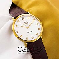 Женские наручные часы Omega de ville gold white (05694)