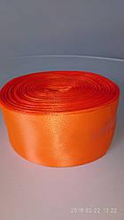 Лента оранжеая атласная 5см.