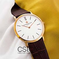 Мужские наручные часы Vacheron Constantin geneve gold white (05695)