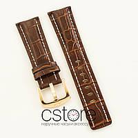Для часов кожаный ремешок с застежкой Breitling brown 24мм (05700)