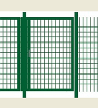 Калитка без замка (1,75х1 м) в ПВХ покрытии Фрунзе