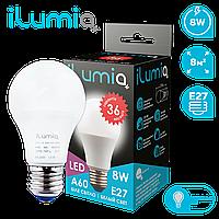 Светодиодная лампа Ilumia 8Вт, цоколь Е27, 4000К (нейтральный белый), 600Лм (072)