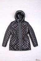 Куртка  для девочки демисезонная чёрная (158 см)  Remix fashion 2126000183937
