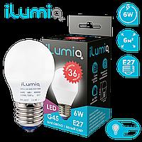 Светодиодная лампа Ilumia шар 6Вт, цоколь Е27, 4000К (нейтральный белый), 450Лм (073)