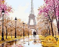 Картины по номерам 40×50 см. Babylon Premium Париж для двоих Художник Ричард Макнейл
