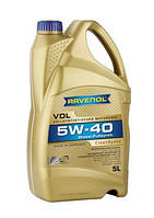 Ravenol VDL SAE 5W-40 кан. 5л синтетическое  моторное масло  для  дизельных моторов с и без турбонадува