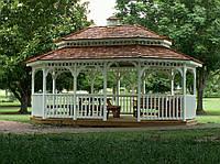 Беседки-павильоны с оригинальной крышей
