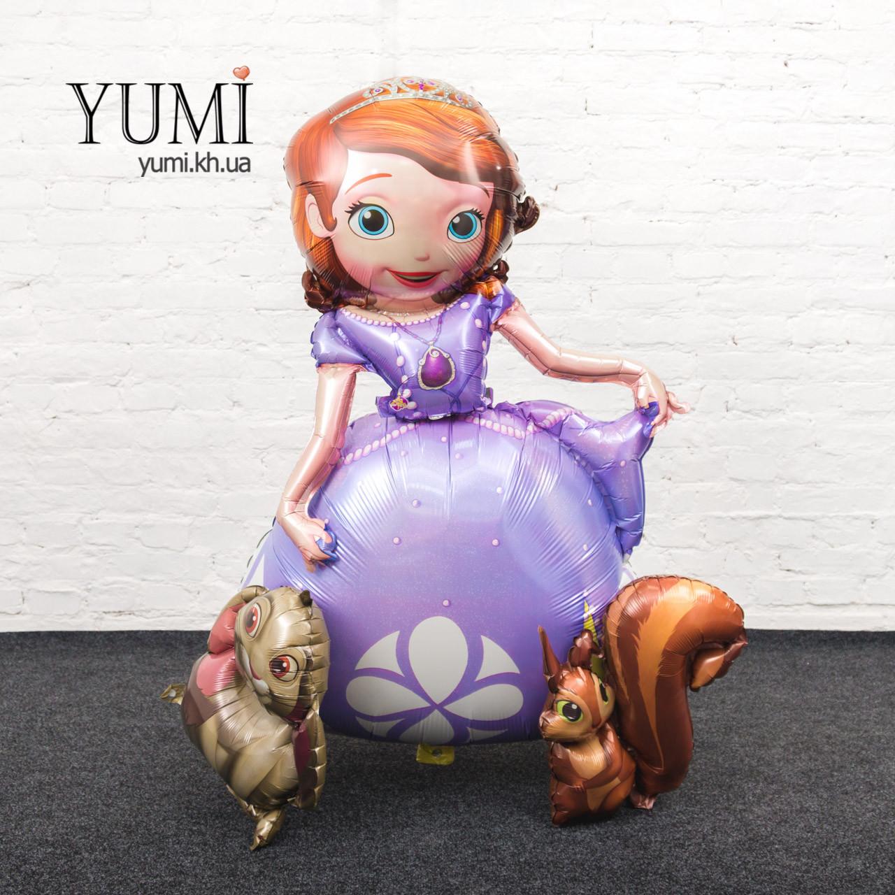 Ходячий шар фигура Принцесса София