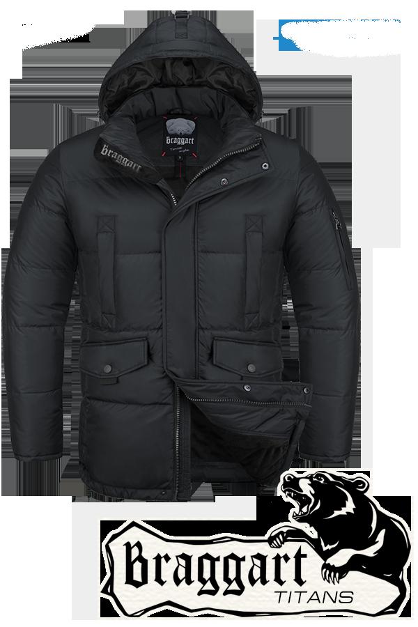 Мужская зимняя куртка-парка большого размера Braggart р.56-60 арт. 4405 черный