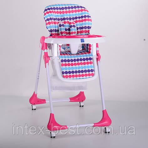Детский стульчик для кормления Bambi (M 3233-11) Розовый, фото 2