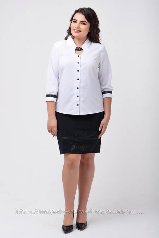 04743f4aa4a Женская рубашка больших размеров 50-58 SV AL 1675