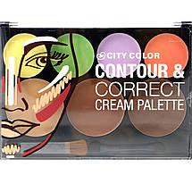 Палитра для контуринга City Color™ Contour & Correct Cream Palette, фото 3