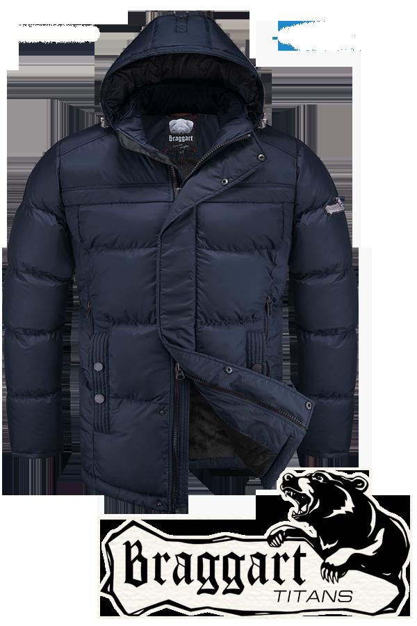 Мужская синяя зимняя куртка большого размера Braggart арт. 2438