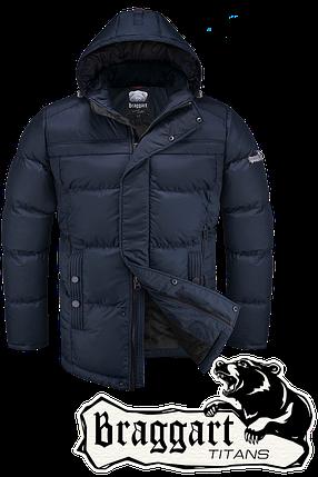 Мужская синяя зимняя куртка большого размера Braggart арт. 2438, фото 2