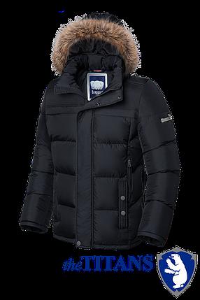 Мужская зимняя черная куртка больших размеров Braggart (р. 56-62) арт. 3617, фото 2