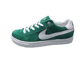 Женские кроссовки Nike  зеленый(замша)